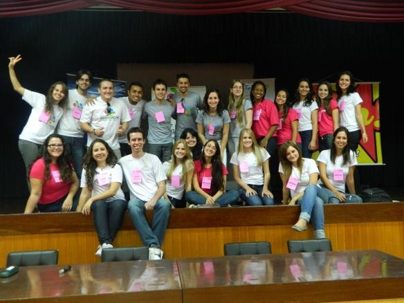 Equipe da ONG que trabalhou unida para o sucesso do evento.