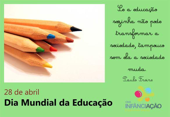 Dia Mundial da Educação!