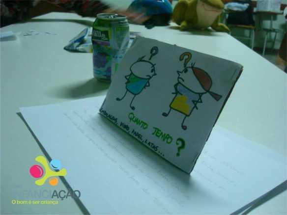Cartão confeccionado pelas crianças para o dia dos pais