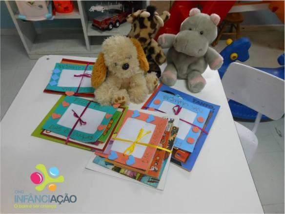 Preparação dos kits para cada criança