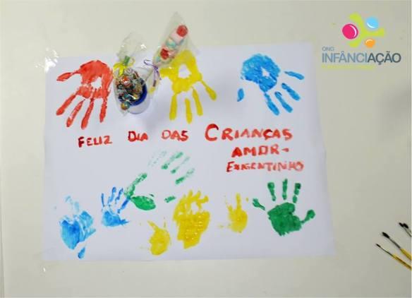 Cartaz elaborado pelas crianças