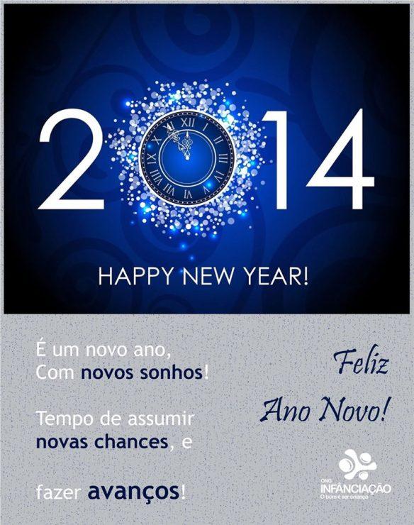 A ONG Infância-Ação deseja a todos um Feliz Ano Novo!