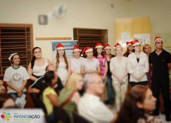 Encenação de natal no AE Sede