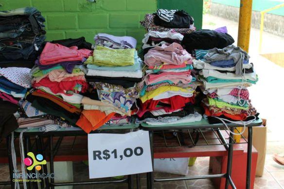 Praticamente todas as peças foram vendidas á R$1,00. Foto: Assessoria de Comunicação do CAL