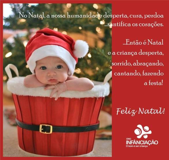 A ONG Infância-Ação deseja à todos um Feliz Natal!